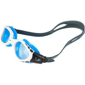 speedo Futura Biofuse Flexiseal Gafas, oxid grey/white/blue